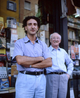 Andrea Torciani insieme a Giuseppe Novello